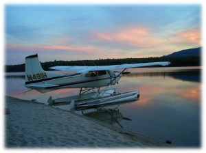 Sunset floatplane